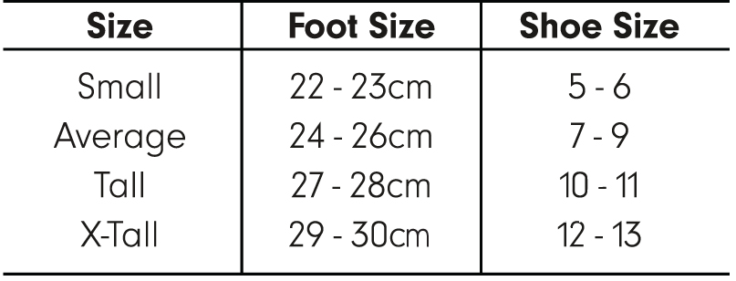 Size Chart - Stockings